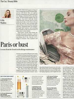 The Telegraph Magazine - Features Dr. LEVY Switzerland®'s Décolletage Regenarating Silk